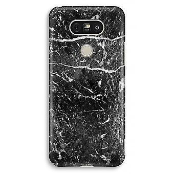 LG G5 Full Print Case - Black marble