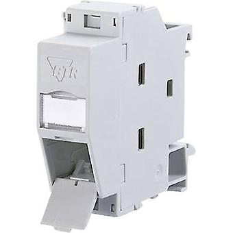 Network outlet DIN rail CAT 6 Metz Connect 1309427103-E