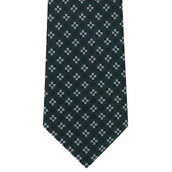 Michelsons of London Squares Motif Polyester Tie - Green