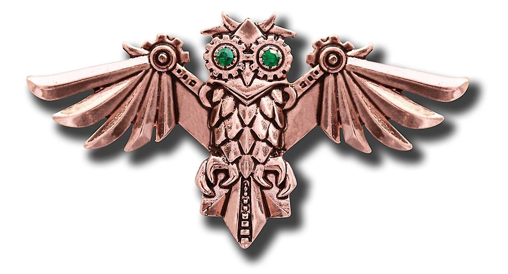 Anne Stokes Engineerium Aviamore Owl Steampunk Brooch