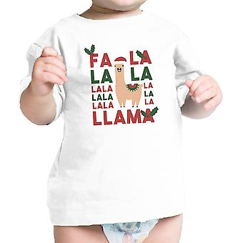 Falala Llama Infant Gift Tee Shirt White