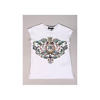 John Richmond Floral Crest Skull Design Tshirt