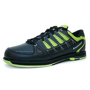 Brunswick arrow lime - Bowling shoes for men and women in black and lime