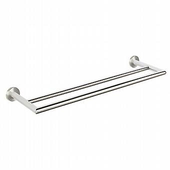 Urban Steel Double Towel Rail 60cm in brushed PZ03D