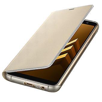 Samsung Neon Flip Cover Hülle EF-FA530PLEGWW Galaxy A8 2018 A530F Schutzhülle Gold