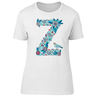 Flower Alphabet Letter Z Tee Women's -Image by Shutterstock