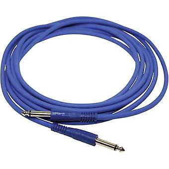 Instruments Cable [1x Jack plug 6.35 mm - 1x Jack plug 6.35 mm] 4 m Blue