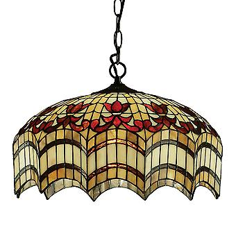Interiors 1900 Vesta Triple Bulb Ceiling Pendant Tiffancy Glass