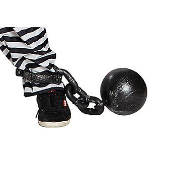 Gevangene bal 55 cm bal keten accessoire carnaval Halloween carnaval