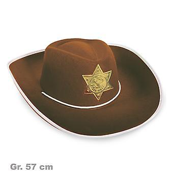 Cowboy Hut Braun Sheriff Wilder Westen