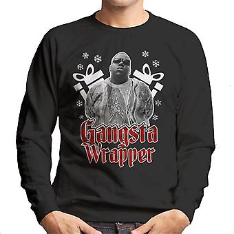Gangsta Wrapper Notorius BIG Christmas Men's Sweatshirt