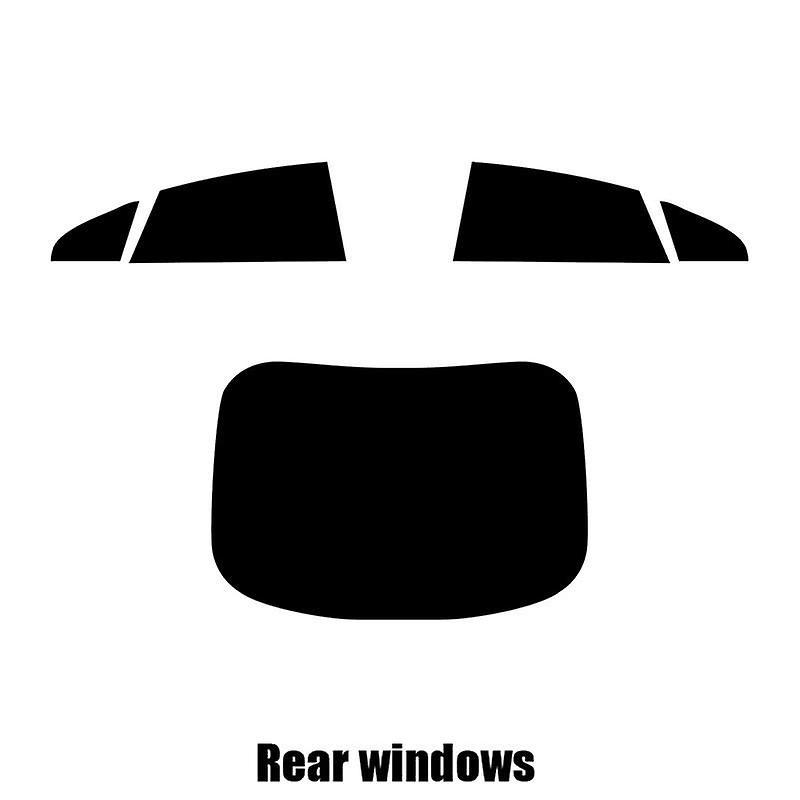 Pré coupé vitres teintées - VW Arteon - 2017 et plus récents - les fenêtres arrière
