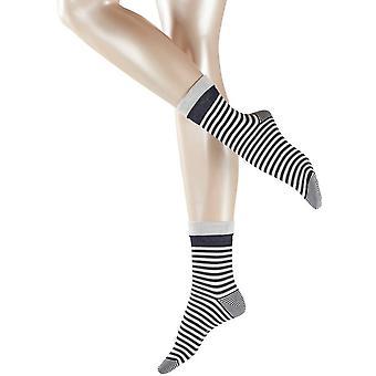 Esprit Fold Stripe Socks - Marine Navy