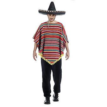 Mr costume Mexico Mexican poncho costume men