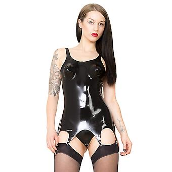 Raw Moulded Rubber Women's Corset Suspender Clips in Latex Black Classic