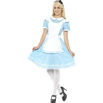 Wonder prinses kostuum, blauw, met jurk, schort & hoofdband