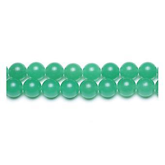 Paket 6 x grün malaysischen Jade 10mm Plain Runde Perlen VP2205