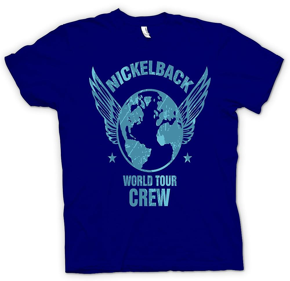 Hommes T-shirt - Nickelback World Tour Crew