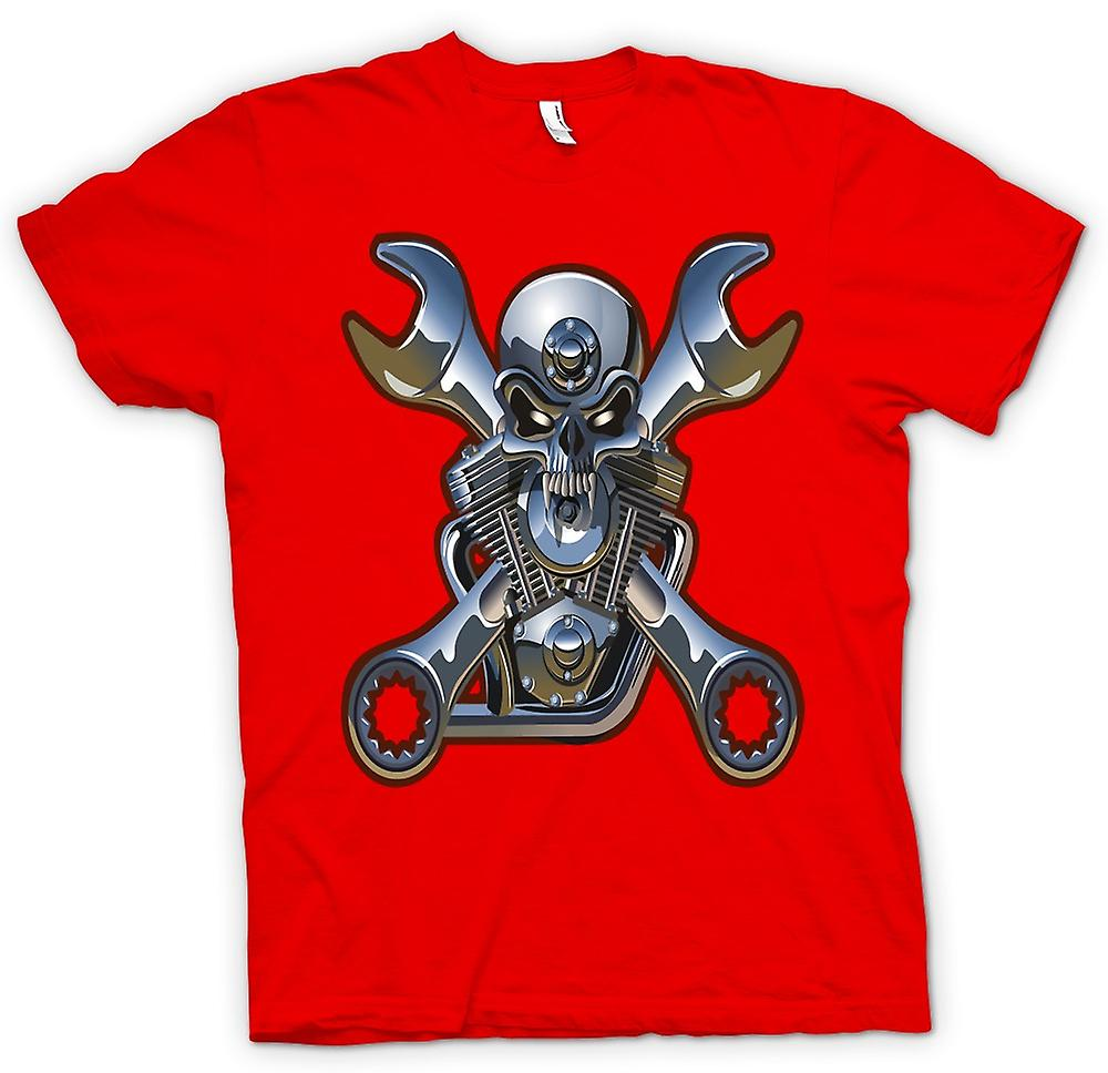 Mens T-shirt - Biker Engine Mechanic