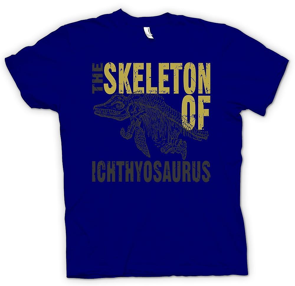 Mens T-shirt-Skelton der Ichthyosaurier