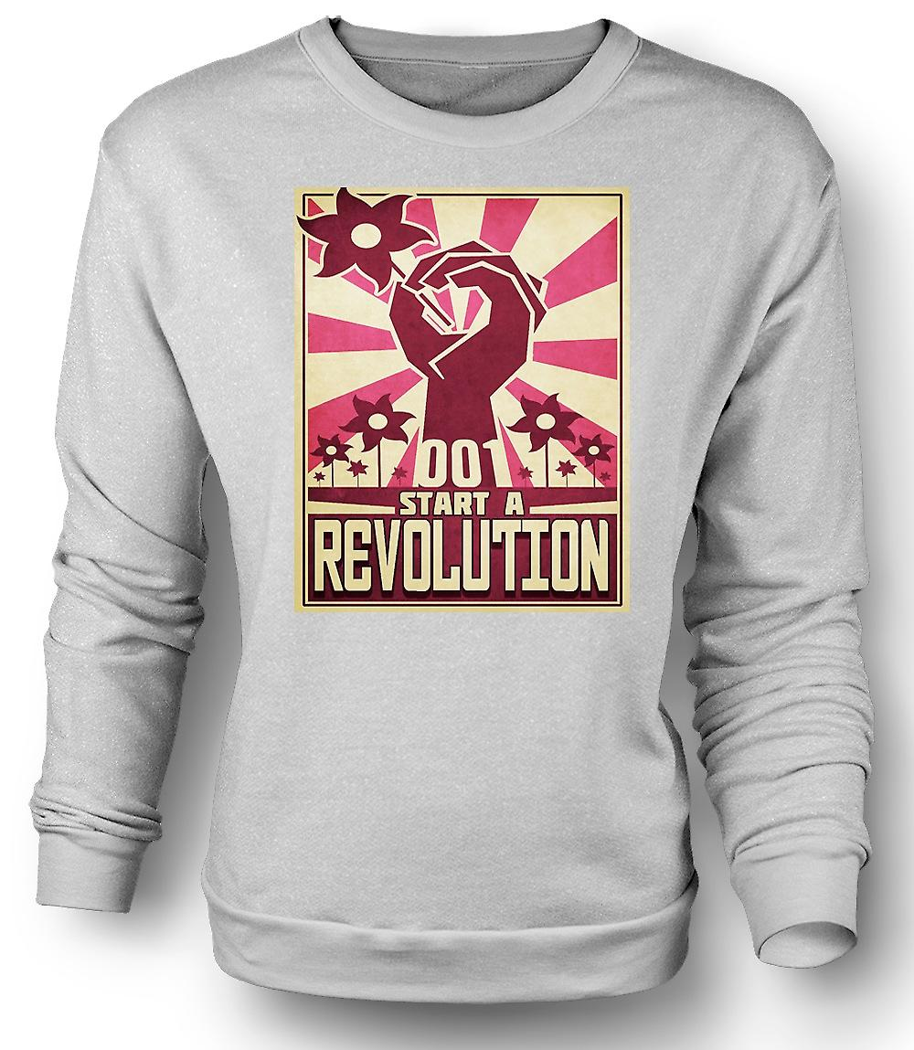 Mens Sweatshirt starten Sie eine Revolution - cooles Design