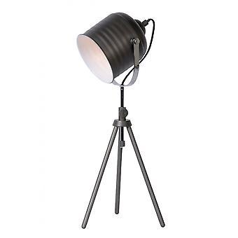 Lucide Studio industrielle runde metall grå jern bordlampe