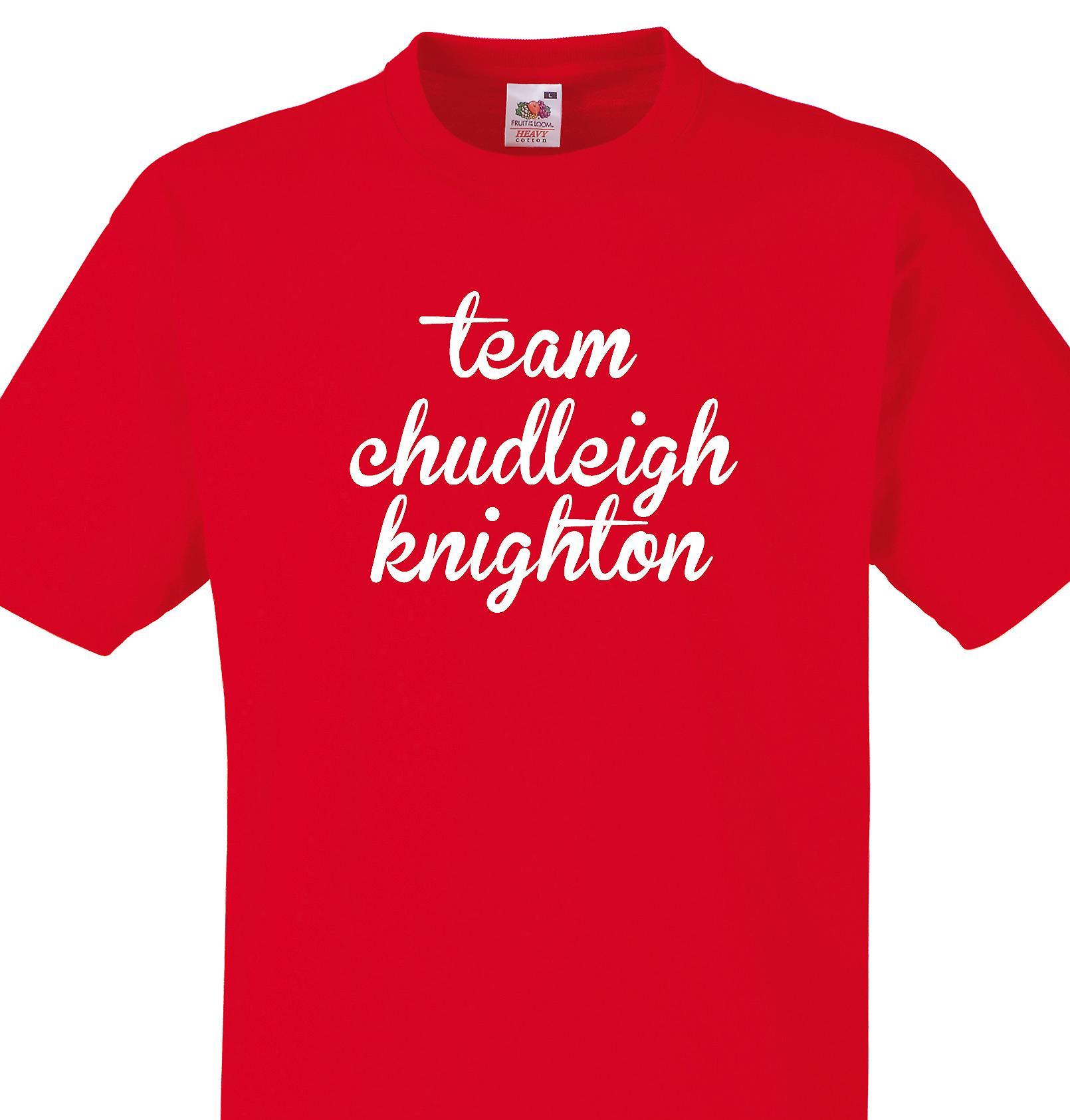 Team Chudleigh knighton Red T shirt