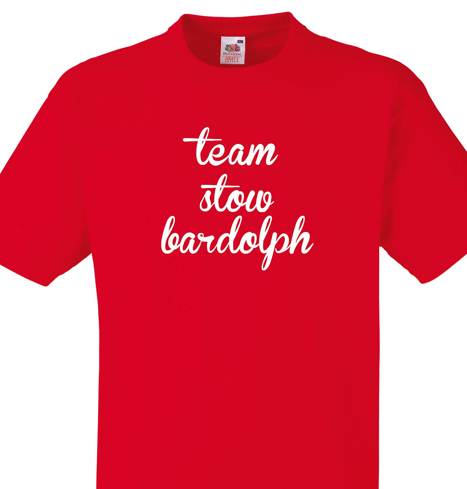 Team Stow bardolph Red T shirt