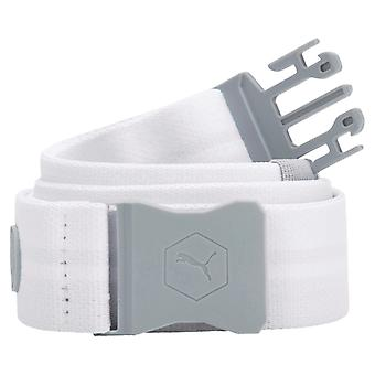 PUMA UltraLite stretch men's fabric belt bright white