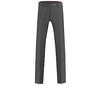 Dobell Mens Charcoal Suit Trousers Tailored Fit Windowpane Check