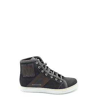 Marc Jacobs Brown Leather Hi Top Sneakers
