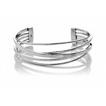 Cavendish French Sterling Silver Flattened Band Cuff Bangle