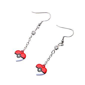 Pokémon Heart Shaped Poké Ball Drop Earrings