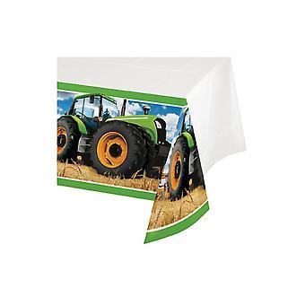 Traktor Party Tischdecke 137x259 cm Bauernhof Landmaschinen Trecker Kindergeburtstag