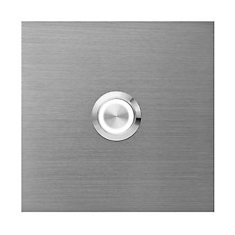 MOCAVI RING 515 Modern ringtop in V4A stainless steel, square (8.5 cm), LED button