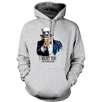 Mens Hoodie - I Want You Ninja - Funny Humour