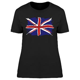 London Britain Flag Paint Lines Tee Women's -Image by Shutterstock