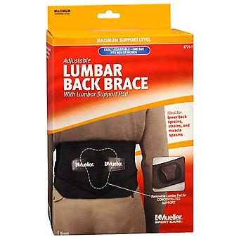 Mueller sport care adjustable lumbar back brace, one size, 1 ea