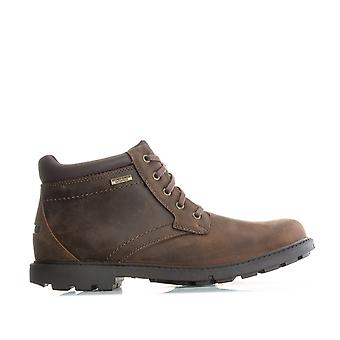 Mens Rockport Mens Storm Surge Plain Toe Boots in Brown - Royaume-Uni 12,5