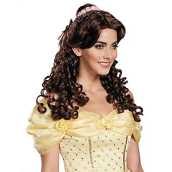 Belle Ultra Prestige Beauty And The Beast Disney Princess Womens Costume Wig