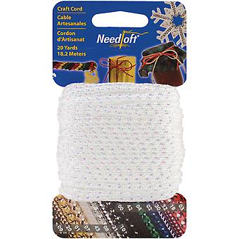 Needloft Novelty Craft Cord 20 Yards Iridescent White 550 55033