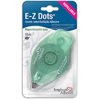 Ez Dots Refillable Dispenser with Repositionable Adhesive 49Ft Repositionable 12046