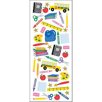 Puffy Classic Stickers Time For School E5230061