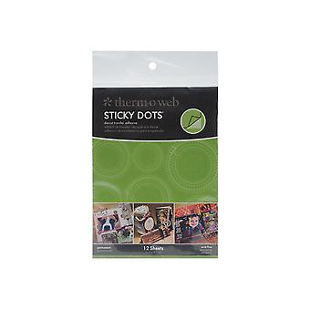 Sticky Dot Die Cut Adhesive Sheets 12 Pkg 4.25