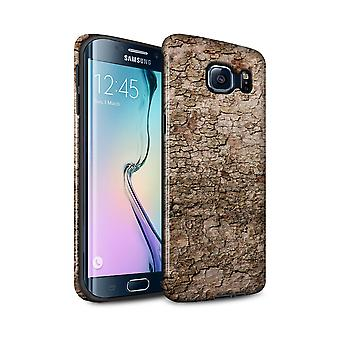STUFF4 Gloss Tough Case for Samsung Galaxy S6 Edge+/Cracked/Tree Bark