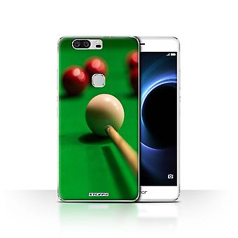 STUFF4/Housse pour Huawei Honor V8/Red Ball/Cue/Snooker