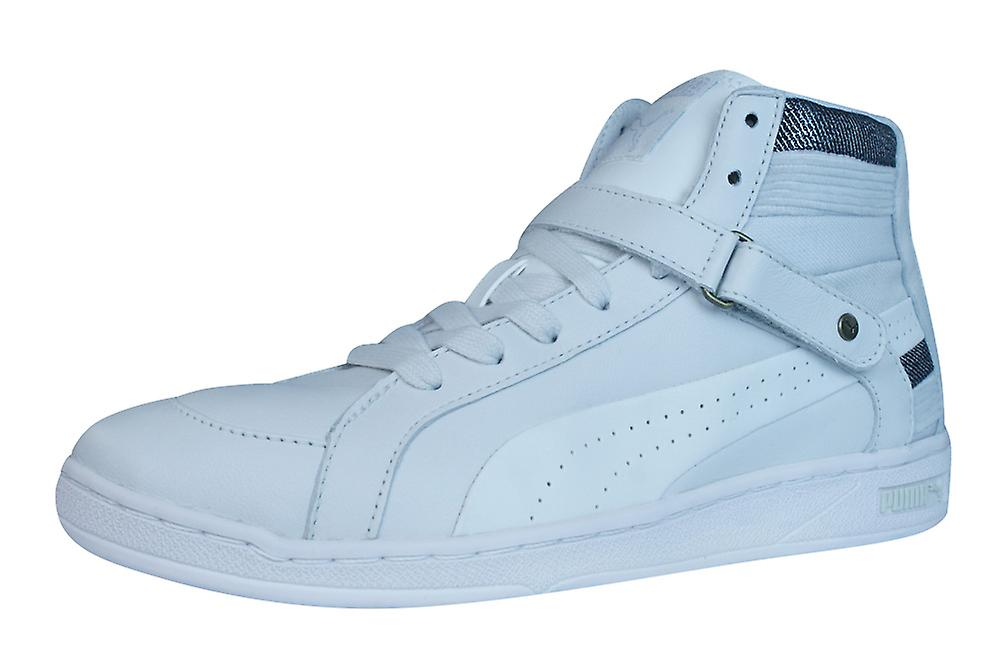 Puma The Key Womens Womens Womens Leather Mid Top Trainers / Shoes - White f457aa
