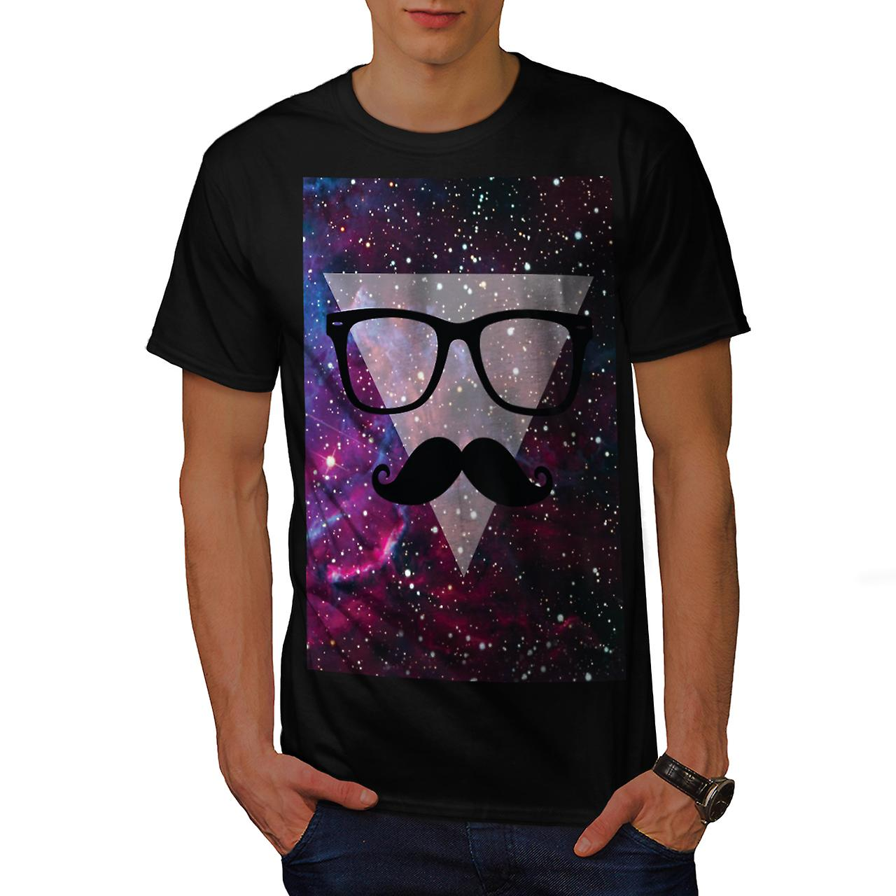 Master Disguise Space Funny Face Men Black T-shirt | Wellcoda
