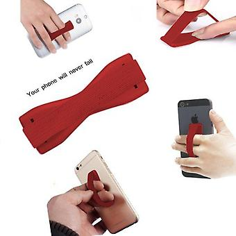 ONX3 (Red) OnePlus 2 Universal Anti-Slip Elastic Finger Mobile Phone Grip Holder With Strong Adhesive