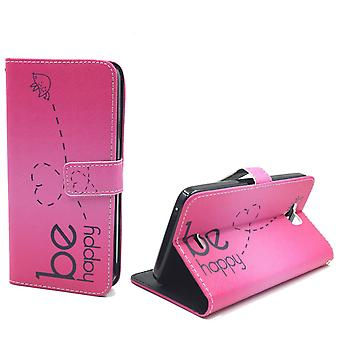Mobile phone case pouch for mobile WIKO slide be happy pink